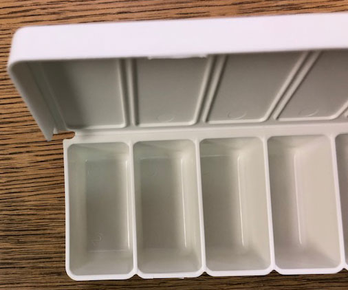 Chip Tray 20 unit -White Opaque UV