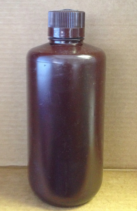 1000 ml Amber HDPE Nalgene narrow mouth bottle