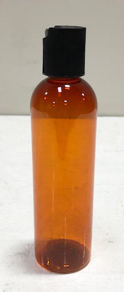 125ml Amber PET Bottle w/flip dispenser cap 12/pk