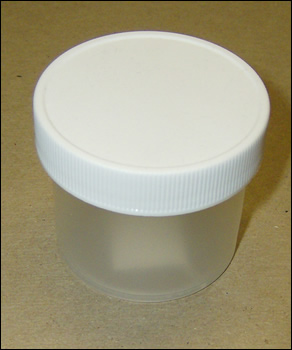 2 oz Polypropylene Jars with White Unlined Screw Cap