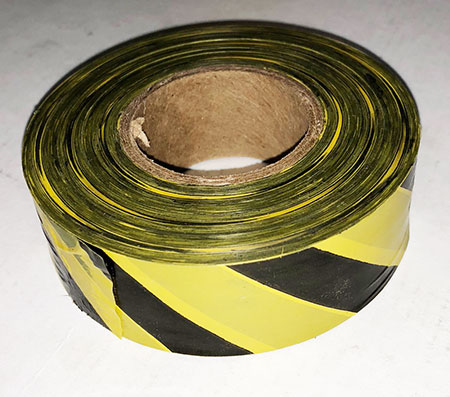 Taffeta Yellow & Black Stripe Flagging Tape