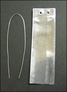 "7/8"" x 3"" Double Face ""Write On"" Aluminum Tags with 6"" Wire Ties"