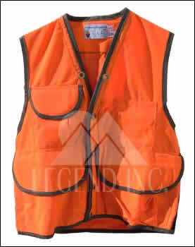 Orange 10 Pocket Field Vest - JIM-GEM (35-37) Small