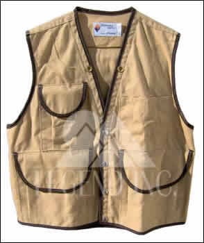 Tan 10 Pocket Field Vest - JIM-GEM (35-37) Small