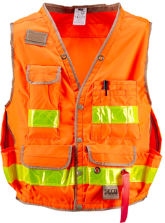 Orange Geology Vest (Medium) With Reflective Strips