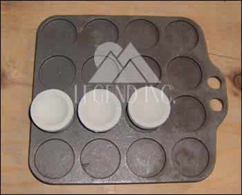 Cast Iron Cupel Trays, 16 place