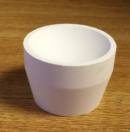 "8AB Premium Bone Ash Cupels (1 3/4"") - Tapered Side / 100 cs"