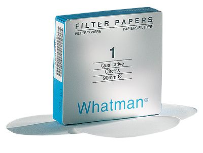 Whatman #1 filter paper, 9cm 100/pk