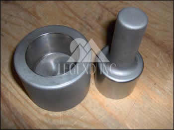 Mortar & Pestle Hardened Tool Steel