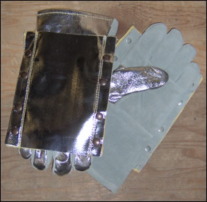 "14"" Aluminized Gloves with Double Aluminized Back"