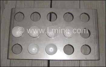 15 Place 10ml Parting Cup Tray Stainless Steel - 3 x 5