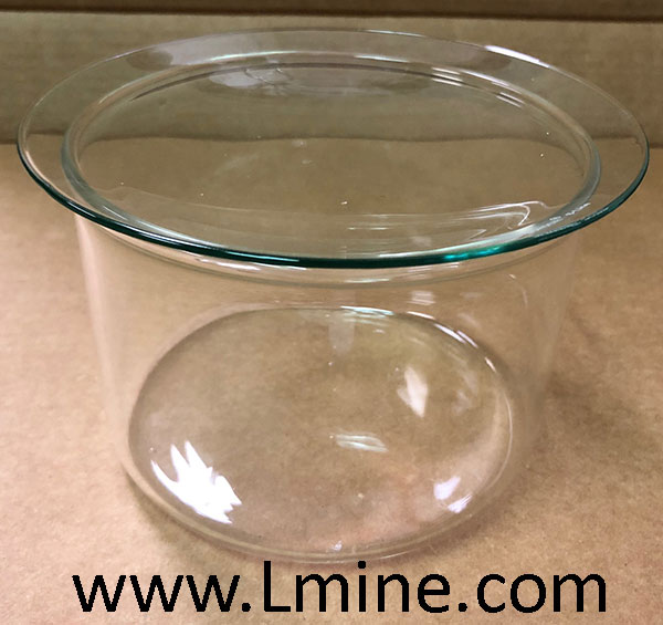 Beaker for 25 place Quartz Parting Basket w/cover