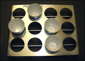 40ml 12 Place Annealing Tray Stainless Steel - 3 wide x 4 deep