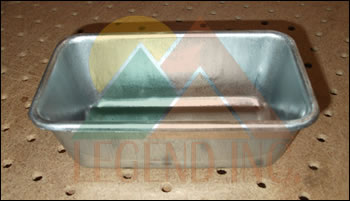 "5-5/8"" x 3-1/8"" x 2-1/4"" Galvanized Steel Sample / Pulp Pan"