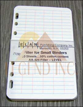 "Elan AA325F Small Level Book Filler Paper Universal Punch (4-1/8""x6-5/8"")"