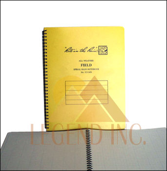 "#353-MX Field Maxi-Spiral Notebook -8.5"" x 11"""