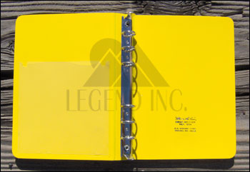 "# 204 1/2"" Small Field 6 Ring Binder - 4"" x 6.5"""