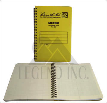 #363 Metric Field Spiral Notebook