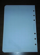 #382 Metric Grid Standard Size Loose Leaf - New Grid Style