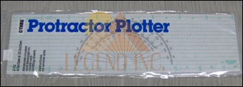 C-thru P-72 Course Protractor Plotter Ruler - 15""