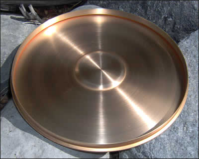 "3"" Brass Cover with Ring (8406)"
