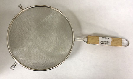 "Geologist Hand Sifter - 8"" 18 mesh w/backing"