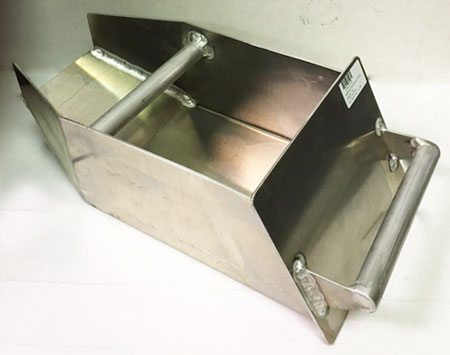 Badger crusher pan 14 in alum. alloy