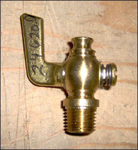 1/4 in Brass cock valve