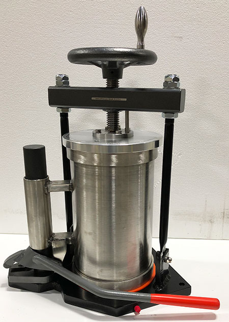 "Pressure Filter w/Barrel Lift, 8"" Acid Resistant"