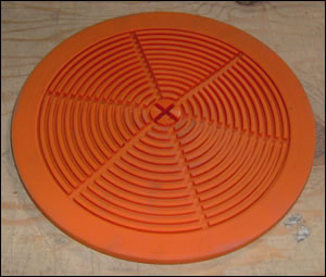 "Rubber Base Mat for 10"" Pressure Filter"