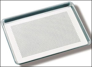 "Perforated Drying Oven Pan 18"" x 26"" 18 gauge ( 3004 Aluminum Alloy )"