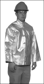 "Used 30"" Aluminized Rayon (15oz) Jacket Size X-Large"