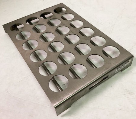 24 Place 15ml Annealing Tray SS 4x6 no handle w/support bars