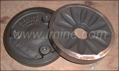 UA 2000 Grinding Plates, chrome alloy