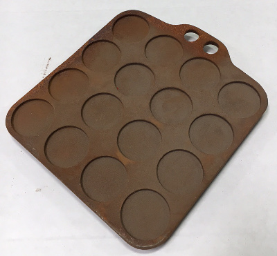 USED 16 place Cupel Tray, Cast Iron