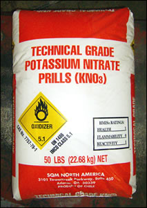 Potassium Nitrate PRILLS Technical Grade (KNO3) - 55 lb Bag