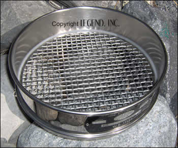 "US Std 1/4"" SS Sieve Half Height"